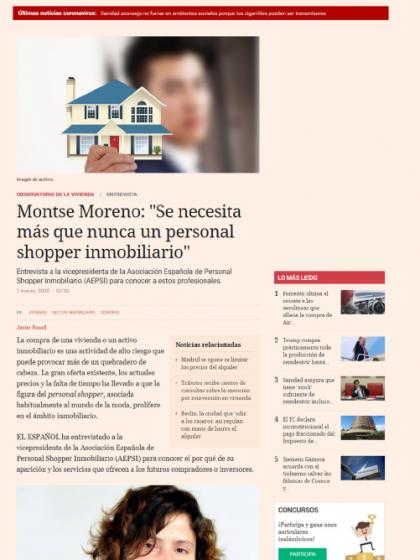 """Montse Moreno: """"Se necesita más que nunca un personal shopper inmobiliario"""""""