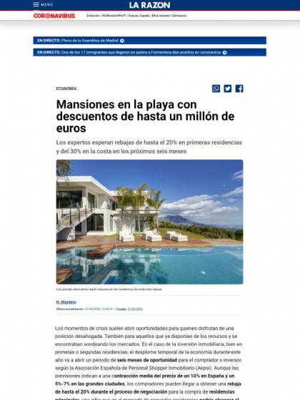 Mansiones en la playa con descuentos de hasta un millón de euros