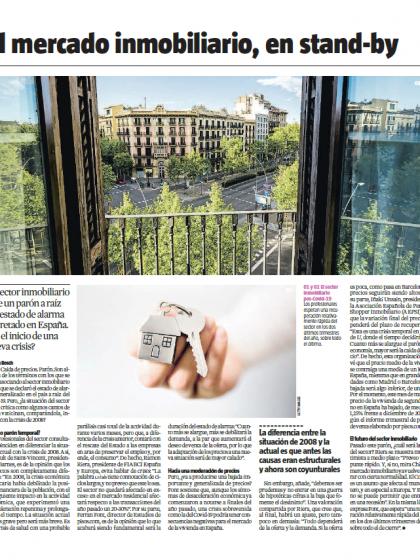 El mercado inmobiliario, en stand-by